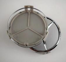 To fit Mercedes Benz Wheel Rim 75mm SILVER CHROME Centre cap A B C E S ML GL