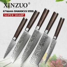 Kitchen Knife Set Knives Damascus Steel Chef Cleaver Santoku Boning Pairing Peel