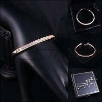 Armreif Armspange Armband *Edler Kreis* Rosegold pl, Swarovski Elements, +Etui