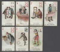 1898 Wills's Cigarettes Double Meaning (P/C Inset) Tobacco Cards Lot of 7