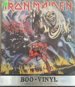 Iron Maiden Number Of The Beast -  Vinyl LP EMC 3400 A2-B3 Original Vg+ / Vg+