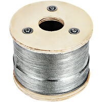 1/8 Stainless Steel Cable Railing Wire Rope 1x19 Type 316 (328 Feet)