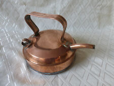 UNUSUAL  ANTIQUE COPPER  KETTLE to the kitchen of the coal