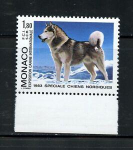 W411  Monaco  1983  dogs Alaskan Malamute   1v.    MNH