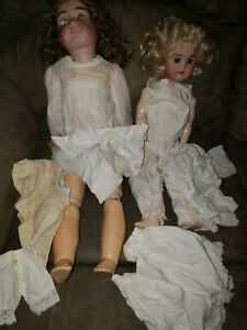"Antique composition Bisque 24"" and 17"" Heinrich & Max Handmerk Doll Germany"