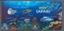 Australia-Reef Safari Aug.2018-Special 3D -Part Imperf min sheet mnh-Sharks-Fish