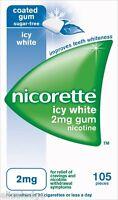 Nicorette Nicotine Gum Icy White Gum 2mg (105 pieces)