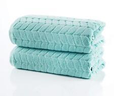 Bagno Milano Jacquard Collection Aqua Green 2 Pcs Bath Towel Set Elegant Style