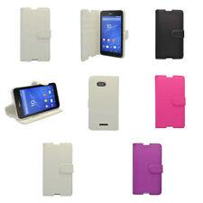 Fundas y carcasas lisos Sony piel para teléfonos móviles y PDAs