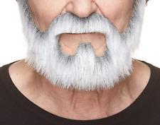 Mustaches Self Adhesive, Novelty, On Bail Fake Beard, False Facial Hair, Gray