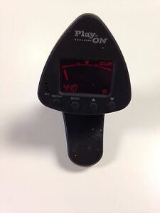 PLAY-ON Universal Clip-On Tuner Music Guitar NOS