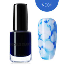 NICOLE DIARY Nail Polish Gel Varnish Watercolor Ink Gradient Marble Blooming DIY