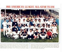 1981 ALL STAR TEAM AMERICAN LEAGUE 8X10 PHOTO BASEBALL
