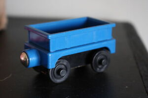 Chuggington Wooden Train Blue Cargo Car --- Fits Thomas Track
