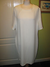 BNWT MARINA KANEVA SIZE 20 LADIES WHITE STRETCHY TUNIC DRESS