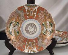 3 Japanese Imari/Kutani Porcelain Plates
