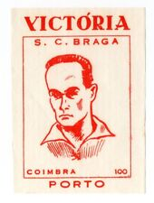 Victoria Candies Portugal 64/65 Sello de fútbol Wrapper # 100 Coimbra S.c. Braga