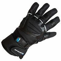 Spada ICE Men's Leather Motorcycle Motorbike Stretch Panels Gloves