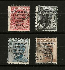 1922-Trieste-Congresso Filatelico -sass S 22 -  usato - 6
