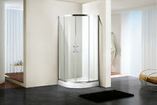 Uomere Shower Enclosure Quadrant Tough Tempered Glass Double Sliding Door Bath