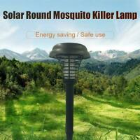 2X Solar Powered Outdoor Mosquito Fly Bug Insect Zapper Trap Lamp Light J1W3