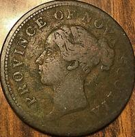 1840 NOVA SCOTIA ONE PENNY TOKEN - 4 FRINGES