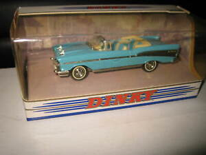 MATCHBOX DINKY 1/43 CHEVROLET BEL AIR 1957 CONVERTIBLE BLUE DY-27 OLD SHOP STOCK
