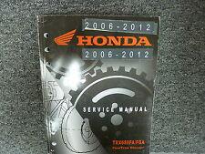 2012 Honda TRX680FA TRX680FGA Four Trax Rincon ATV Service Repair Manual
