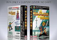 ZELDA A LINK TO THE PAST. JAPAN. Box/Case. Super Nintendo. BOX + COVER.(NO GAME)