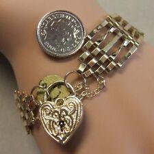 9 ct GOLD second hand old 5 bar gate bracelet