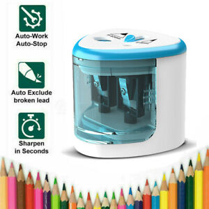 Pencil Sharpener Electric Automatic Battery Operated School Stationery NEW