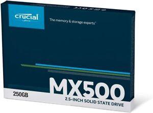 "Hard Disk disco fisso SSD Crucial MX500 per pc notebook interno da 2,5"" 250gb"