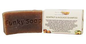 1 piece Soapnut and Avocado Oil Shampoo Bar 100% Natural Handmade 65g