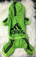 """New listing Dog Sweater Adidog Pet Clothes Size Large Fits 12"""" to 13"""" long Snap Button Chest"""