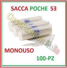 100 SACCA A POCHE CM. 53 MONOUSO TRASPARENTI BAKERY PROFESSIONALE ZBEZ652