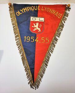 OL Olympique Lyonnais 1954-1955 France - Bannière fanion football club