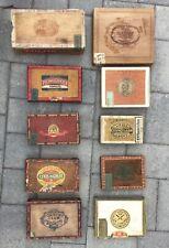 10 Vintage cigar boxes various brands