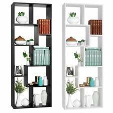 Libreria ufficio Scaffale 8 Ripiani Divisorio in legno salotto studio Bianco 160