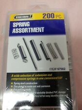 200pc Extension & Compression Steel Spring Assortment Kit 20 Sizes