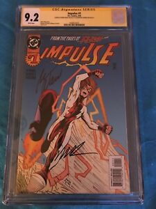 Impulse #1 - DC - CGC SS 9.2 - Signed by Mark Waid, Humberto Ramos