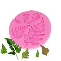 Leaf Silicone Mold Sugarcraft Mimosa Fondant Molds Diy Cake Decorating Tools New