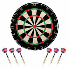 Shot King Regulation Bristle Steel Tip Dartboard Set with Staple-Free Bullseye