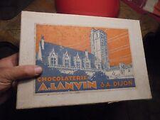 Ancienne Grande Boite Carton de Chocolat de la CHOCOLATERIE A.LANVIN à DIJON