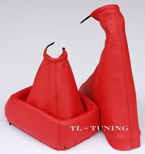 Schaltsack + Handbremssack passend für OPEL CALIBRA Bj. 90-97 Echtes Leder  ROT