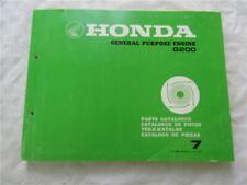 Honda G200 Motor General Purpose Engine Parts List Ersatzteilliste 1983