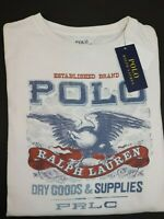 NWT RALPH LAUREN Size S Men's S/S Off White Dry Goods Graphic Crew Neck T-Shirt