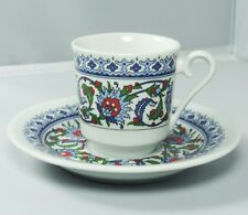 Turkish Anatolian Porcelain Coffee Set  in Beautiful Red Velvet Box -Great Gift