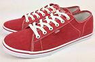 VANS. FERRIS LO Women's or Men's RED Canvas Casual Shoes. Womens US 10 10.5 & 11