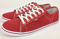 VANS. FERRIS LO Women's or Men's RED Canvas Casual Shoes. Womens US 10 10.5 & 11