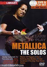 Fare clic su Libreria il Solos Metallica Master Of Puppets un pezzo rock chitarra DVD